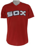 Baseball Collectibles:Uniforms, 1984-85 Tom Seaver Signed Batting Practice Worn Jersey. Dating fromnear the end of his prolific Hall of Fame career, this ...