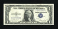 Error Notes:Obstruction Errors, Fr. 1614 $1 1935E Silver Certificate. Choice Crisp Uncirculated..An obstruction left blank the back lower right corner....