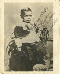Autographs:Others, 1940's Babe Ruth Signed Childhood Photograph....