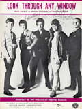 Music Memorabilia:Autographs and Signed Items, The Hollies Signed Sheet Music....