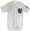 Autographs:Jerseys, 1990's Yankees Hall of Famers Signed Jersey with Mantle &DiMaggio....