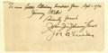 Autographs:Others, 1936 Johnny Evers & Joe Tinker Signed Page....