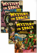 Golden Age (1938-1955):Science Fiction, Mystery in Space Group (DC, 1954-) Condition: Average GD-....(Total: 5 Comic Books)