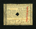 Colonial Notes:Massachusetts, Massachusetts May 5, 1780 $7 About New....