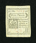 Colonial Notes:Connecticut, Connecticut October 11, 1777 5d Very Choice New....