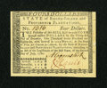 Colonial Notes:Rhode Island, Rhode Island July 2, 1780 $4 New....