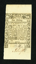 Colonial Notes:Rhode Island, Rhode Island May 1786 1s Choice New....