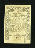 Colonial Notes:Rhode Island, Rhode Island May 1786 9d Extremely Fine....