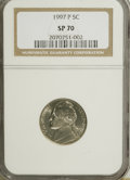 SMS Jefferson Nickels, 1997-P 5C SMS MS70 Full Steps NGC....