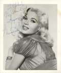 Movie/TV Memorabilia:Autographs and Signed Items, Jayne Mansfield Signed Photo....