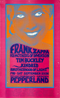 Music Memorabilia:Posters, Frank Zappa & the Mothers of Invention/Tim Buckley PepperlandConcert Poster (1970)....