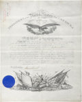 Autographs:U.S. Presidents, Grover Cleveland Document Signed...