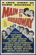 """Movie Posters:Comedy, Main Street to Broadway (MGM, 1953). One Sheet (27"""" X 41""""). Comedy...."""