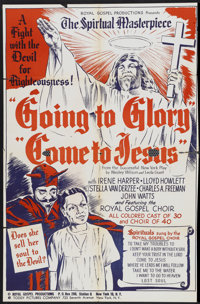 "Going to Glory, Come to Jesus (Toddy Pictures, 1946). One Sheet (27"" X 41""). Black Films"
