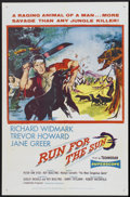 "Movie Posters:Adventure, Run for the Sun (United Artists, 1956). One Sheet (27"" X 41"").Adventure...."