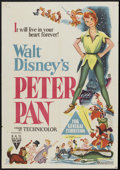 "Movie Posters:Animated, Peter Pan (RKO, 1953). Australian One Sheet (28"" X 40"").Animated...."