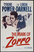 """Movie Posters:Swashbuckler, The Mark of Zorro (20th Century Fox, R-1958). One Sheet (27"""" X 41""""). Swashbuckler...."""