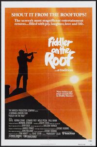 """Fiddler on the Roof (United Artists, R-1979). One Sheet (27"""" X 41"""") and Lobby Card Set of 8 (11"""" X 14&quo..."""
