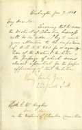 Autographs:Military Figures, Winfield Scott Letter Signed. ...