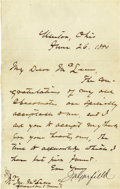 Autographs:U.S. Presidents, James A. Garfield Letter Signed...