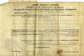 Autographs:U.S. Presidents, John Quincy Adams Signed Land Grant...