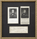 Autographs:U.S. Presidents, William Henry Harrison Check Signed.... (Total: 3 Items)
