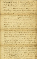 Autographs:Statesmen, Declaration Signer George Wyeth Document Signed....