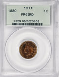 Proof Indian Cents, 1880 1C PR65 Red PCGS....