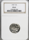 Proof Buffalo Nickels: , 1937 5C PR67 NGC. NGC Census: (314/35). PCGS Population (372/11).Mintage: 5,769. Numismedia Wsl. Price for NGC/PCGS coin i...
