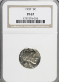 Proof Buffalo Nickels: , 1937 5C PR67 NGC. NGC Census: (316/35). PCGS Population (367/11).Mintage: 5,769. Numismedia Wsl. Price for NGC/PCGS coin i...
