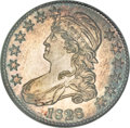 Bust Half Dollars, 1828 50C Square Base 2, Small 8, Large Letters MS63 NGC....