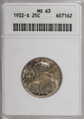 Washington Quarters, 1932-S 25C MS63 ANACS....