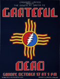 Music Memorabilia:Posters, Grateful Dead The Downs At Santa Fe Concert Poster (1982)....