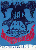 """Music Memorabilia:Posters, Big Brother and the Holding Company Steninger Auditorium ConcertPoster (CIPA, 1967) 13.75"""" x 18.5""""...."""