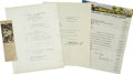 Autographs:Military Figures, World Wars I and II U. S. Military Figures, including: 1. General Maxwell D. Taylor, document signed, a photocopy of... (Total: 4 Items)