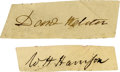 Autographs:U.S. Presidents, William Henry Harrison and Daniel Webster Signatures.... (Total: 2Items)