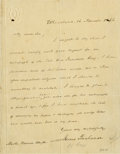 Autographs:U.S. Presidents, James Buchanan Autograph Letter Signed...