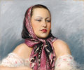 Fine Art - Painting, Russian:Modern (1900-1949), CHARLES VASNIER (French/Russian). Portrait of Nadie Leger. Pastel on paper. 15 x 18-1/2 inches (38.1 x 47.0 cm). Signed ...