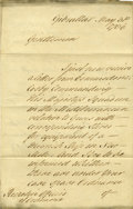 "Autographs:Non-American, George Augustus Eliott Document Signed, ""G. A. Elliott""...."