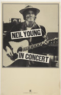 "Music Memorabilia:Posters, Neil Young In Concert Poster (Warner Bros., 1978) 14"" x 22""...."