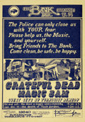 Music Memorabilia:Posters, Grateful Dead/The Bank Concert Poster (1968)....