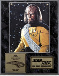 Movie/TV Memorabilia:Autographs and Signed Items, Michael Dorn Autograph....