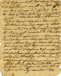 Autographs:Military Figures, Revolutionary War - Battle of Long Island: A superb set of twomanuscripts likely in the hand of Captain Oliver Soper du...(Total: 2 Items)