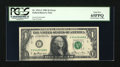 Error Notes:Inking Errors, Fr. 1911-C $1 1981 Federal Reserve Note. PCGS Gem New 65PPQ.. ...