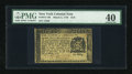 Colonial Notes:New York, New York March 5, 1776 $1/8 PMG Extremely Fine 40....