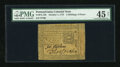 Colonial Notes:Pennsylvania, Pennsylvania October 1, 1773 2s/6d PMG Net Choice Extremely Fine45....