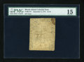 Colonial Notes:Rhode Island, Rhode Island September 5, 1776 $1/16 PMG Choice Fine 15....