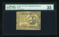 Colonial Notes:Continental Congress Issues, Continental Currency July 22, 1776 $2 PMG Choice Very Fine 35....