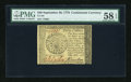 Colonial Notes:Continental Congress Issues, Continental Currency September 26, 1778 $40 PMG Choice About Unc 58EPQ....