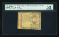 Colonial Notes:Continental Congress Issues, Continental Currency January 14, 1779 $65 PMG About Uncirculated53....